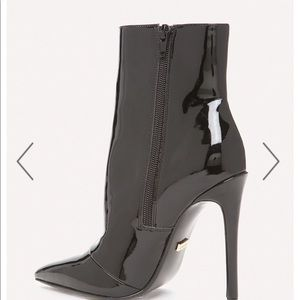bebe Shoes - Bebe Liquid Patent Booties!